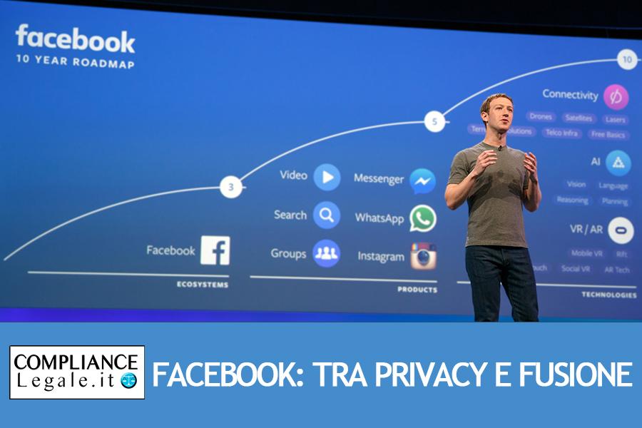 Il futuro di Facebook: tra  tutela della privacy e fusione con le sorelle WhatsApp e Instagram.