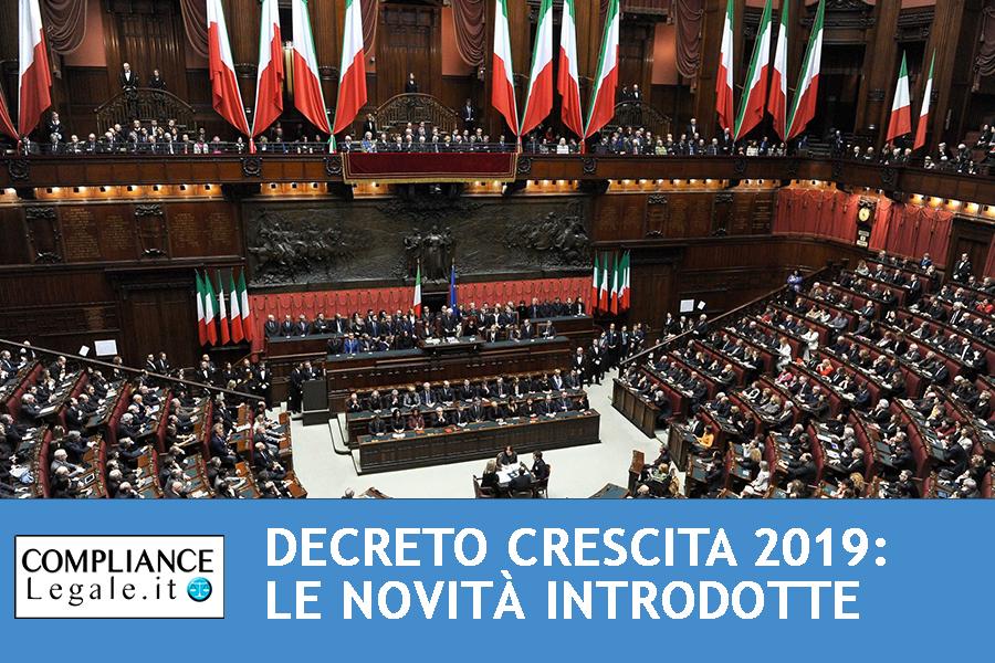 Decreto Crescita 2019: tutte le novità introdotte.