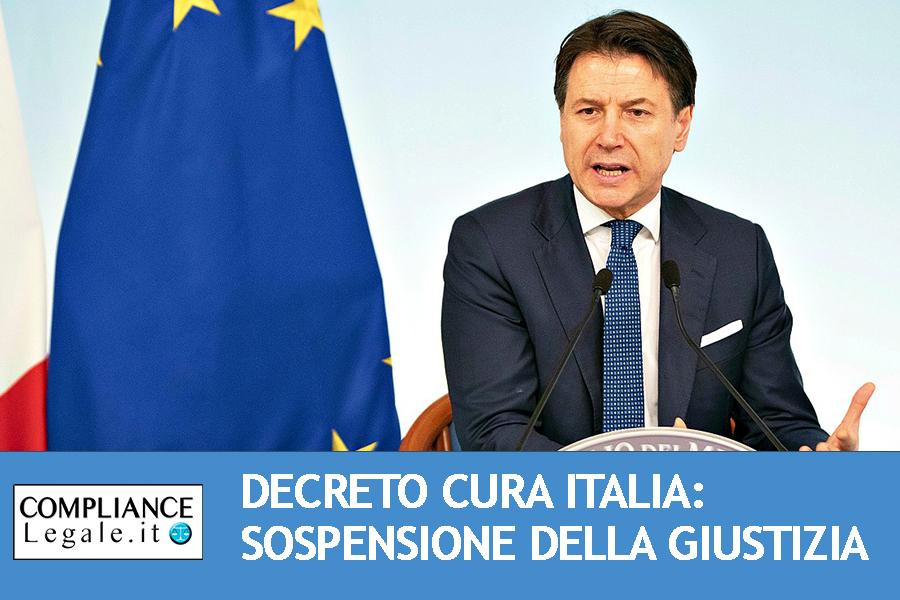 """Coronavirus, decreto """"Cura Italia"""" in tema di giustizia: stop alle udienze e sospensione dei termini procedurali."""