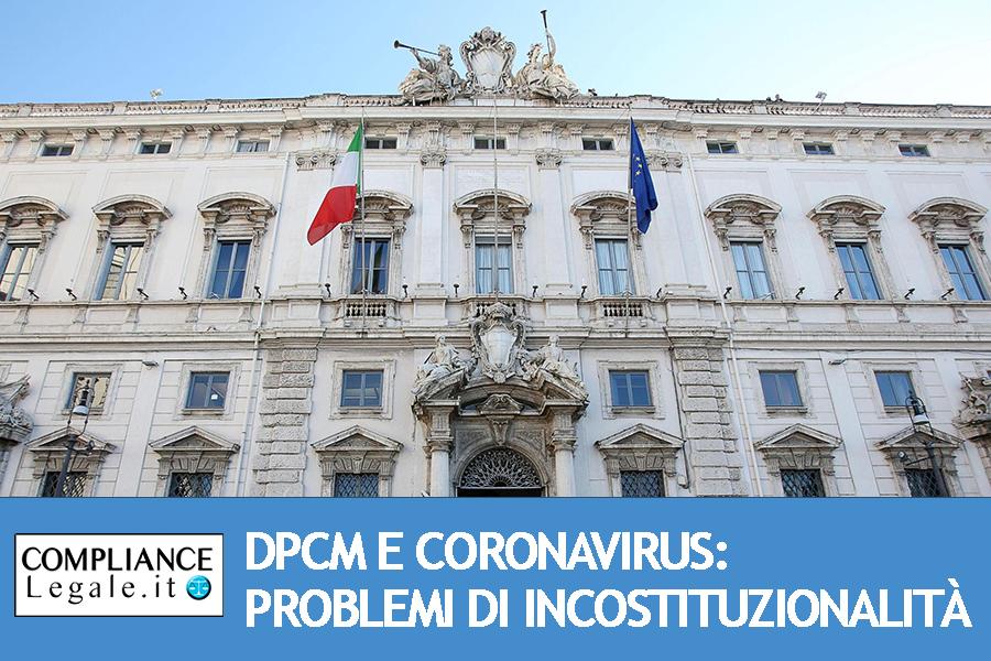 DPCM e Coronavirus: problemi di incostituzionalità