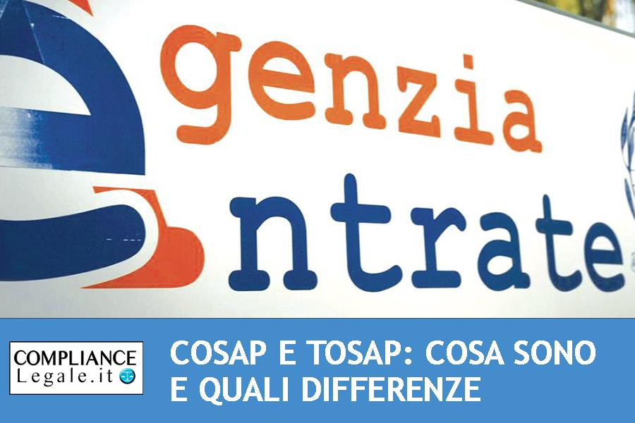 Cosap e Tosap: cosa sono e quali differenze.